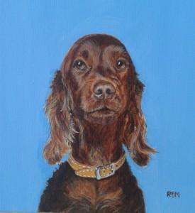 Rusty, acrylic on canvas, 30 x 25cm