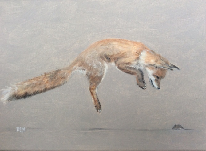 Fox and Mouse - oil
